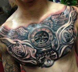 Tattoo chest piece man