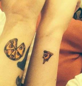 Cute meaningful matching tattoo