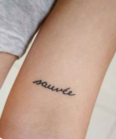 Meaningful word tattoo