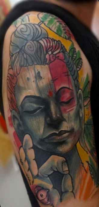 Abstract tattoo Buddha
