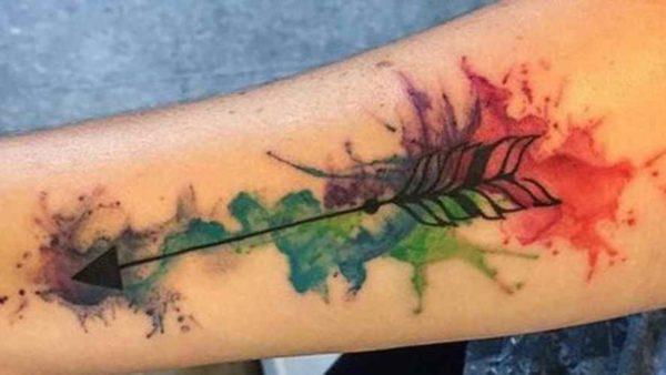 Arrow Colored tattoo designs