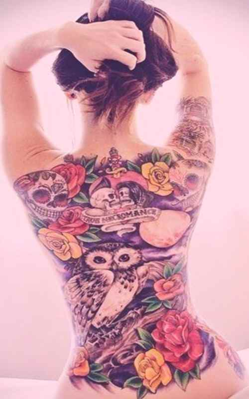 Awesome tattoo for girls back