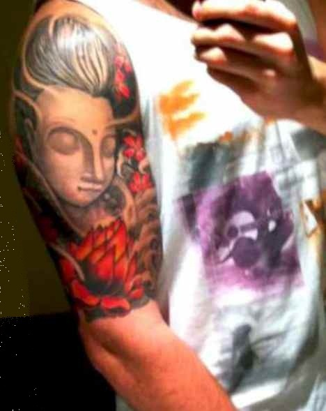 Buddha lotus flower tattoo meaning