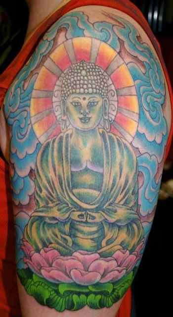 Buddha statue tattoo meaning