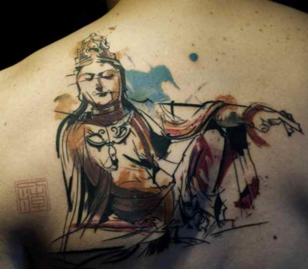 Buddhist tattoo with meaning