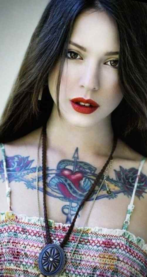 Women chest tattoos cover ups
