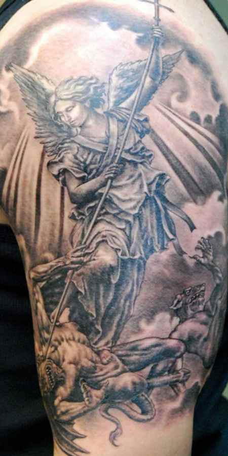Christian devil tattoo for men