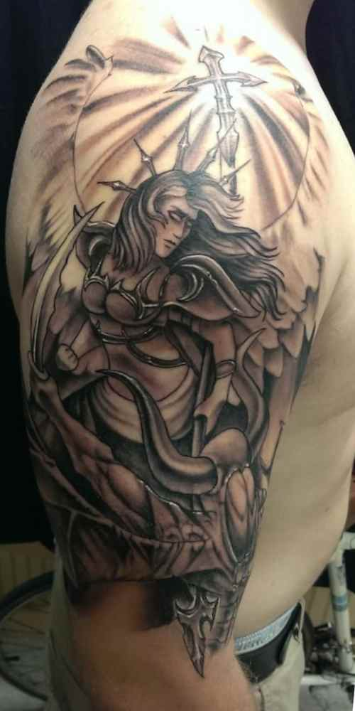 Christian tattoos for men angel