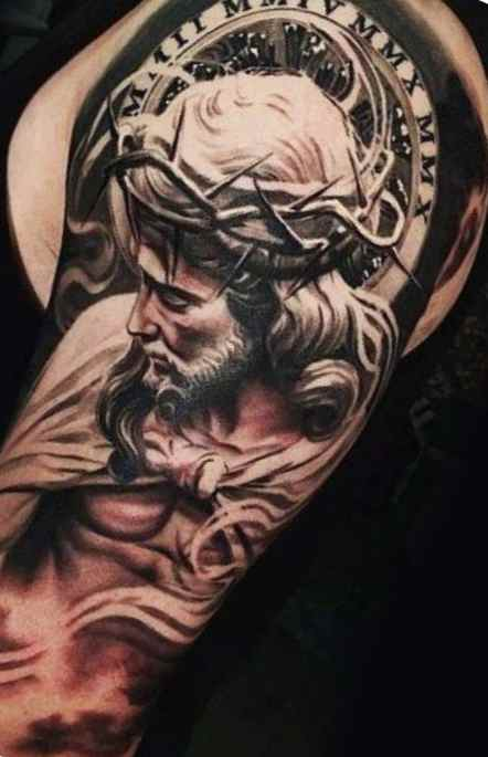 Christian tattos for men arm