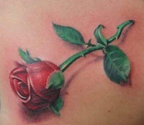 Flowers ankle tattoo