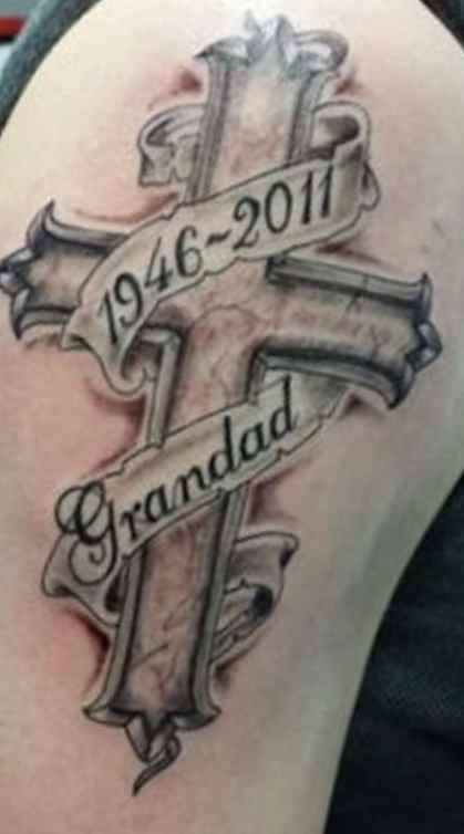 Memory tattoo for men