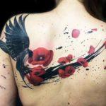 Nice woman tattoo on the back