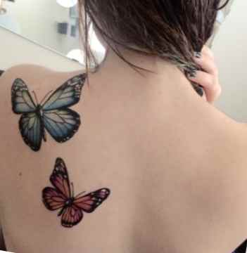 Butterfly tattoo with designs
