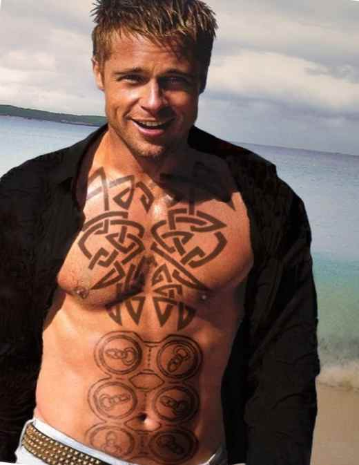 Tattoo henna Brad Pitt