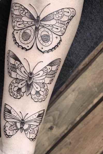 Kat Von butterfly tattoo