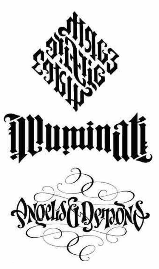 Tattoo font ambigram
