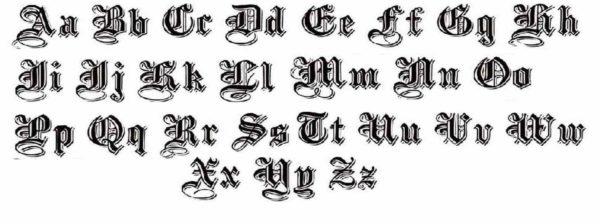 Tattoo font art