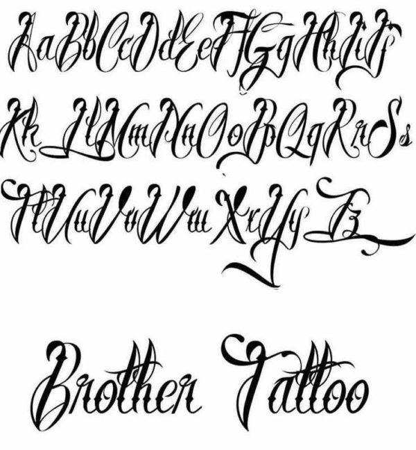 Cool tattoo font