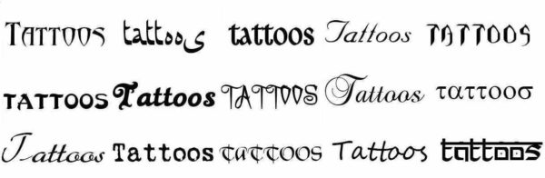 Tattoo font builder