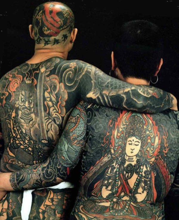 Japanese full body suit tattoo design