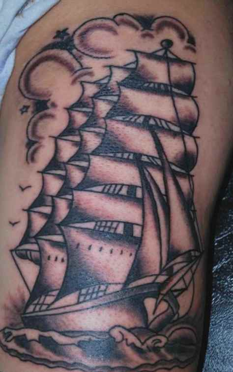 Ship and kraken tattoo meaning