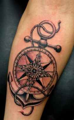 Ship steering wheel tattoo meaning
