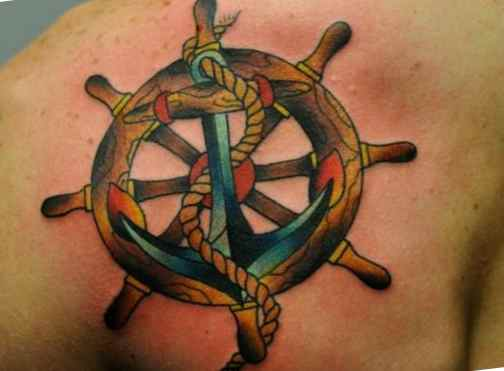Ship wheel tattoo meaning