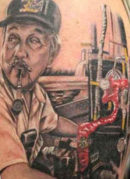 Boatswain on tattoo