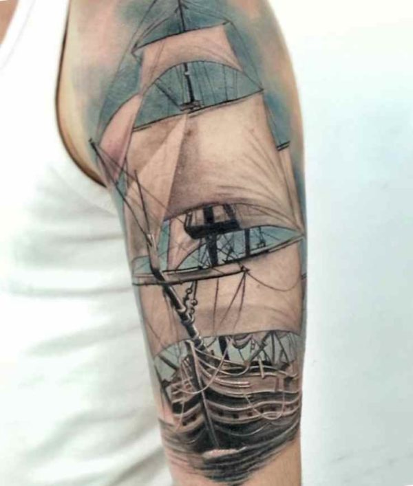 Tall ship tattoo meaning