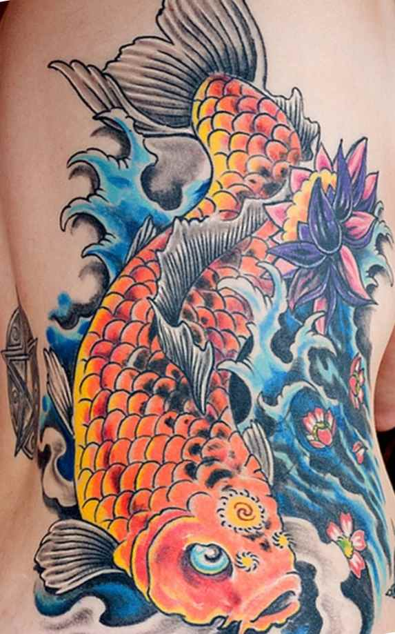 Sick koi tattoo