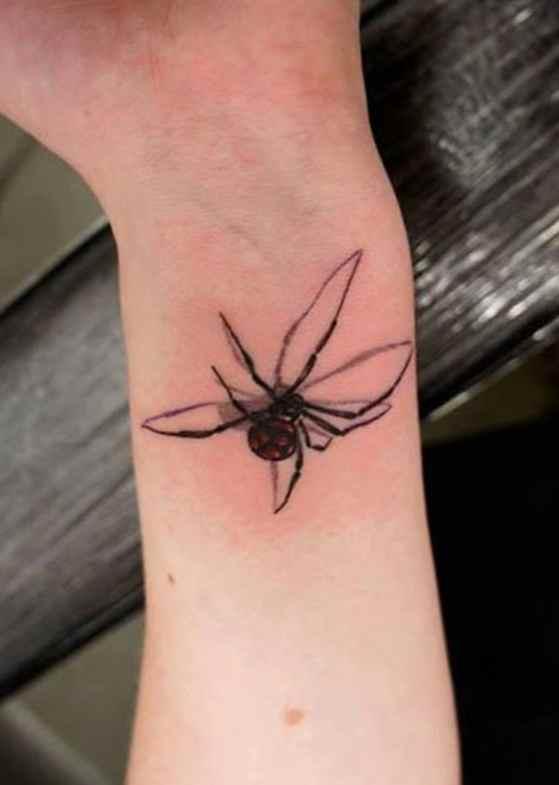 Small Spider Wrist Tattoo