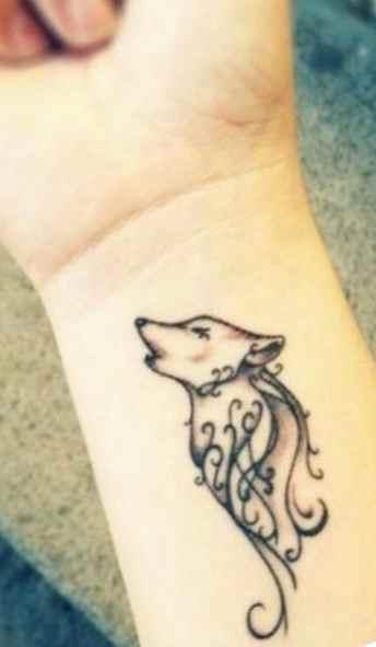 Wolf Wrist Tattoo