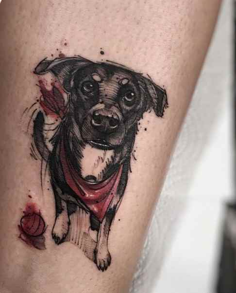 Cool looking dog tattoo