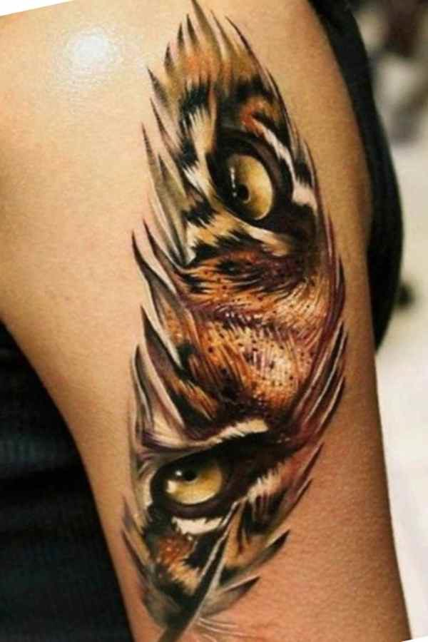 Cool tattoo feather