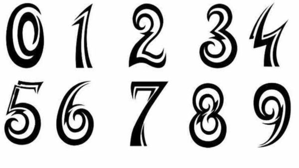 Cool tattoo number fonts