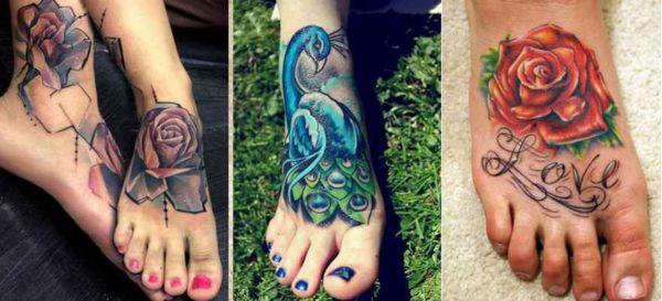 Cool tattoo on foot