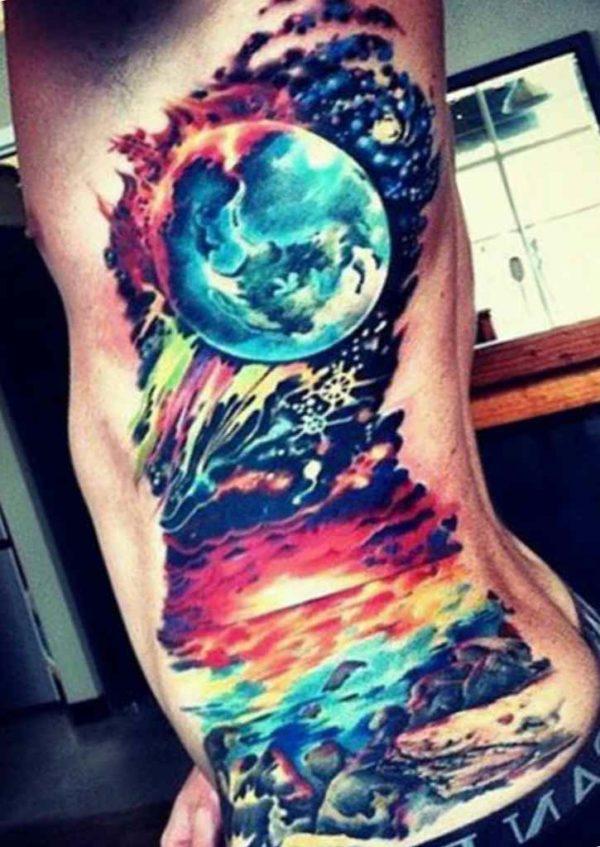 Cool tattoo on ribs