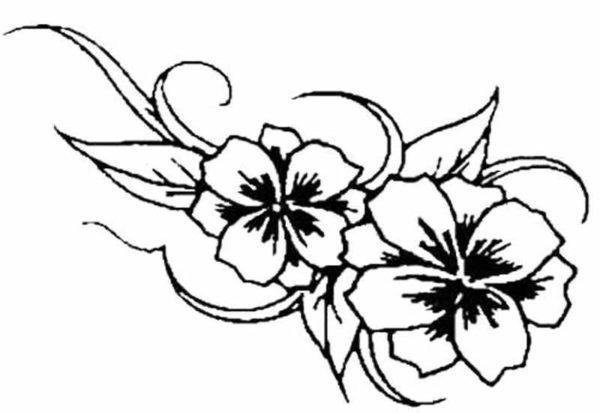 Flower tattoo designs stencil
