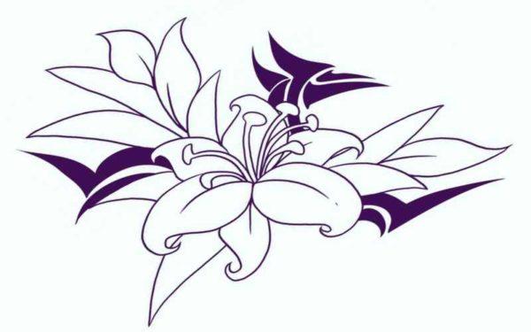 Free flower tattoo designs print