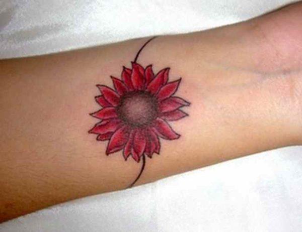 Red flower tattoo designs