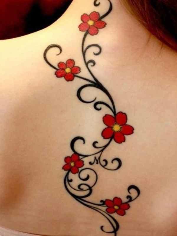 Tattoo flower vines designs