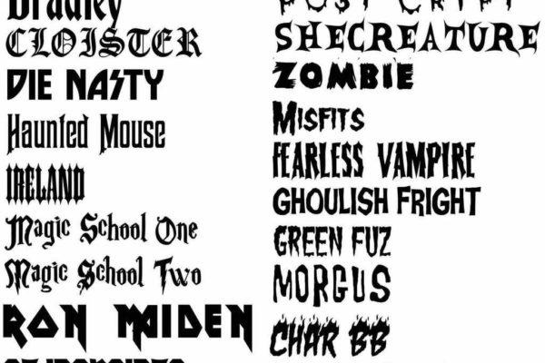 Old english font tattoo