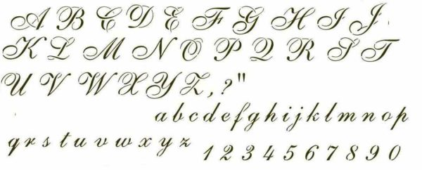 Tattoo lettering and designs