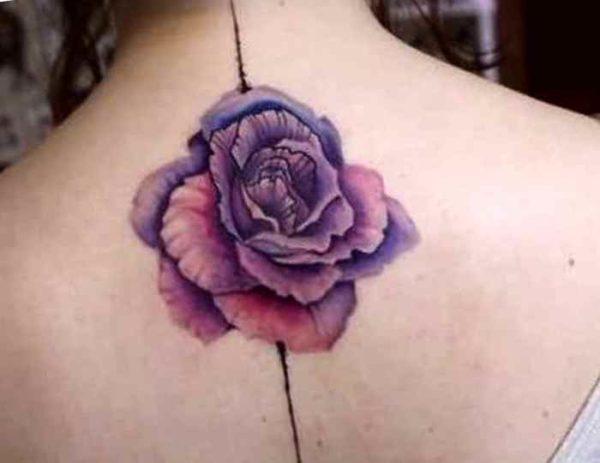 Upper back flower tattoo designs