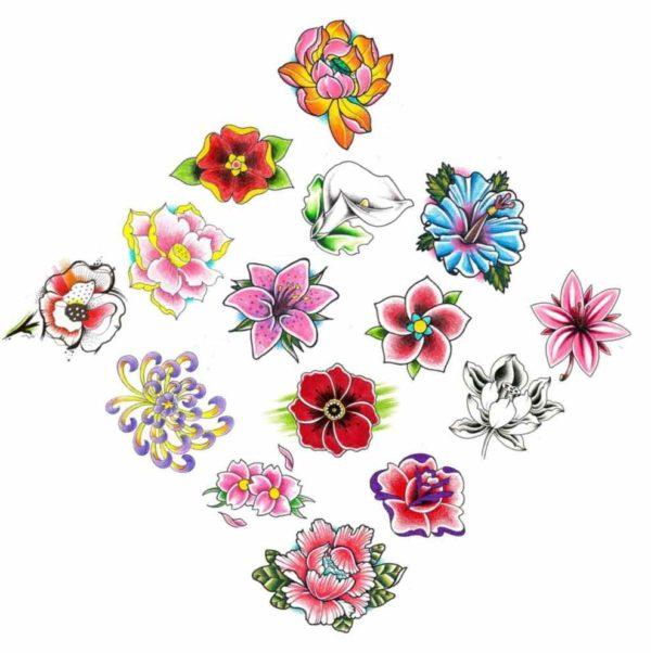 Flower tattoos birth months