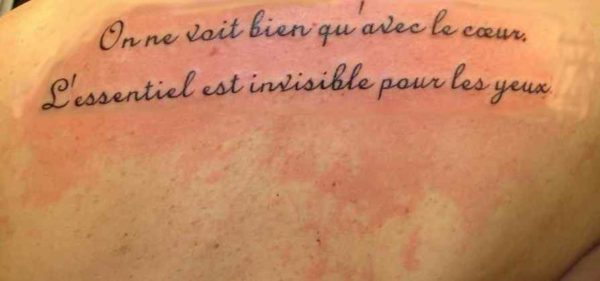Meaningful tattoos in french