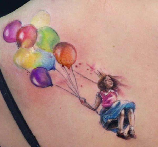 Sick watercolor tattoo