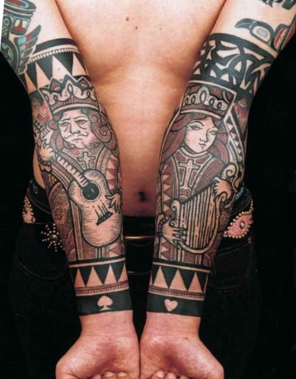 The idea for the tattoo man king and queen