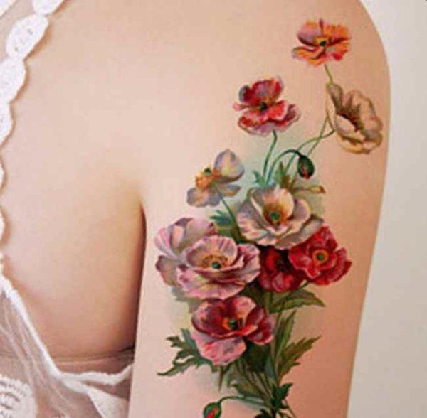 Flower tattoo designs simple