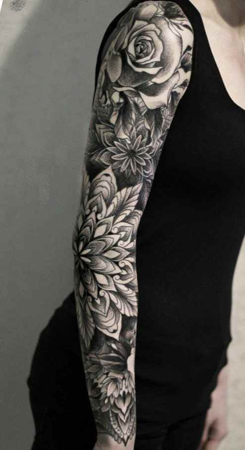 Girls sleeve tattoos